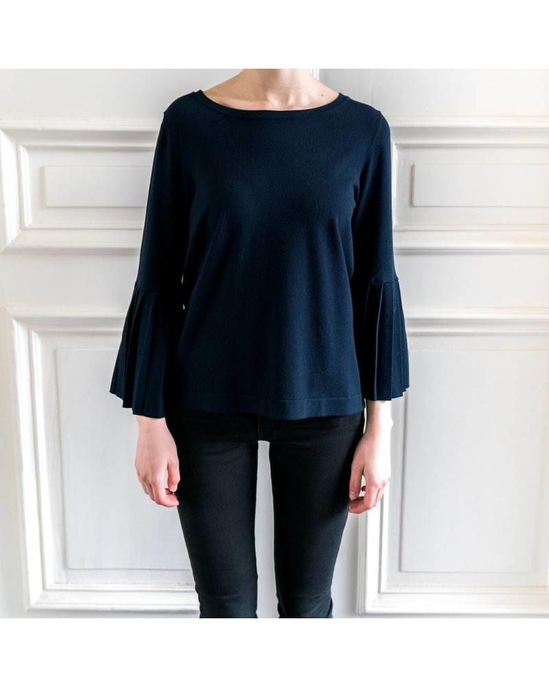 SET Jumper with trompet sleeve - Nightsky