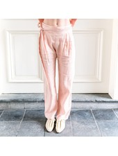 Matin Pleat Front Pant with Tie - Dusty Pink