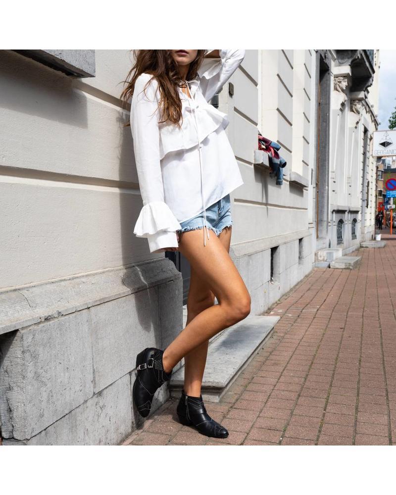 Matin Haarlem Ruffle Blouse - White
