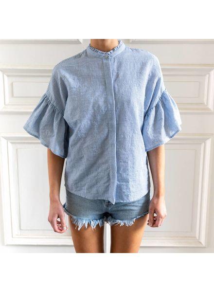 SET Striped Blouse - Blue