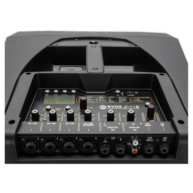 RCF Evox J8MIX portale array pa system with 8 channel mixer