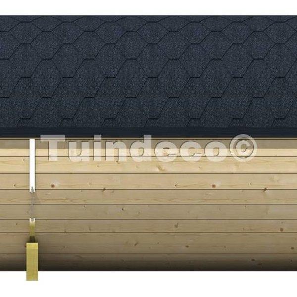 Sauna in houten tonvorm diameter 195 cm