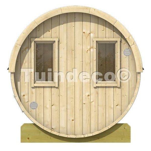 Sauna tonneau diamètre 195 cm en bois