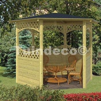 Pavillon en bois  MOYEN en pin traité diam.290cm