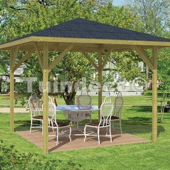 Pavillon en bois  ECONOOM 3,4x3,4m en pin traité