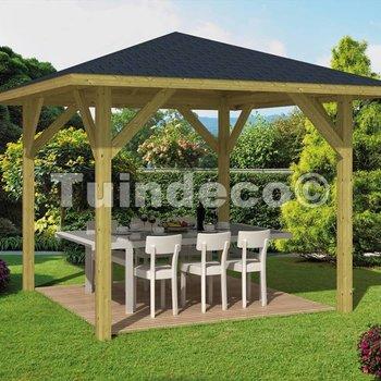 Pavillon en bois  TOURIST en pin traité 3,4x3,4m