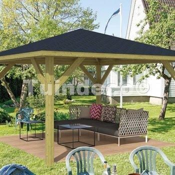 Pavillon en bois  CLASSICO en pin traité autoclave 4,3x4,3m