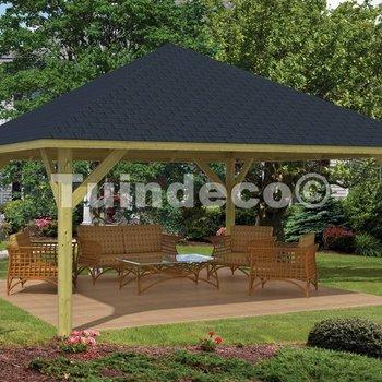 Pavillon en bois  EXTREMO en pin traité 5,5x5,5m