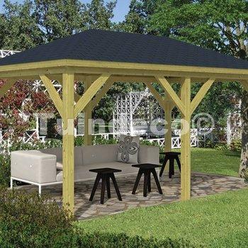 Pavillon en bois  GRANDE en pin traité 4,9x2,9m