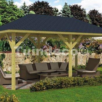 Pavillon en bois  SUPERIEURE en pin traité 5,9x3,4m