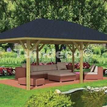 Pavillon en bois  ULTIMO en pin traité 6,94x4,44m