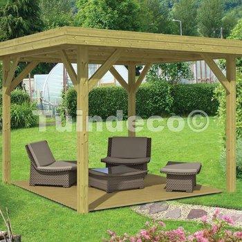 Pavillon en bois  MODERN MOYEN en pin traité 3,65x3,65m