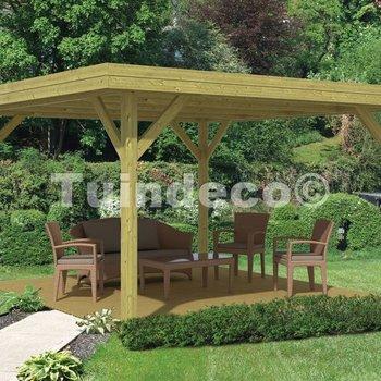 Pavillon en bois  MODERN GRAND en pin traité 4,55x4,55m