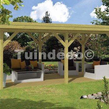 Pavillon en bois  MODERN EXCELLENT rectangulaire en pin traité 5,92x3,4m
