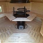 Finse kota grill TALLINN 9m2 in schuine wanden 44mm