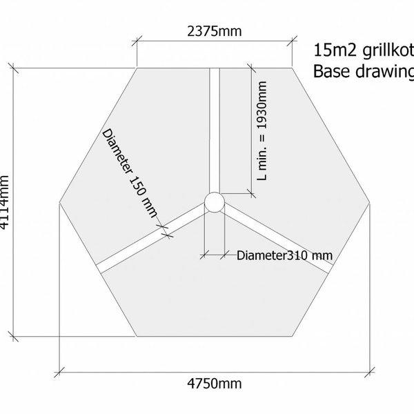 Finse kota grill VORU 15m2 in wanden 44mm