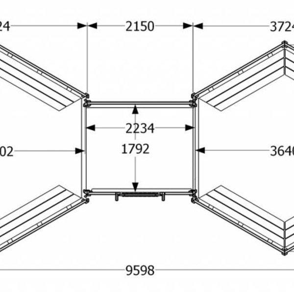 Kota grill VILJANDI double 28m2 en 44mm