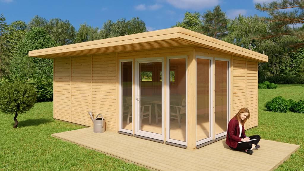 Chalet de loisir hutkube Esther 22 isolé - Constructions en bois !