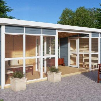 Tuinkamer+ sauna +bergingEmma 8 934x284cm