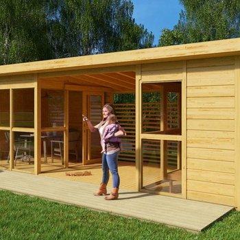 Hutkube: bureau et loisir dans le jardin