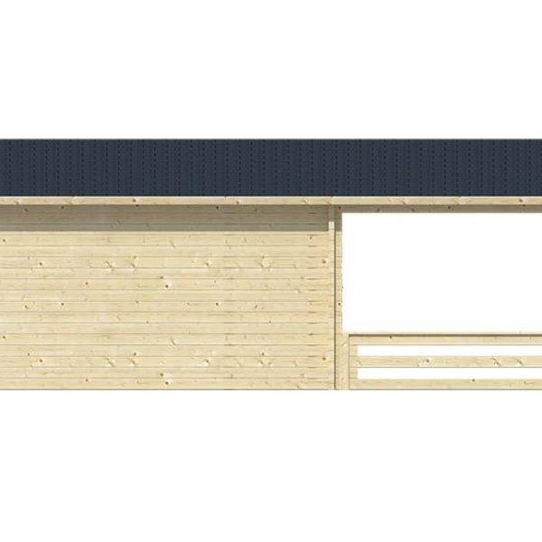 Abri de jardin 58 mm LEEDS 4,4x4,4m