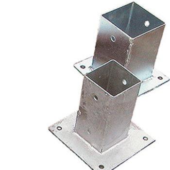 Fixation pour poteau galvanisé 121x121mm longeur 90cm  - Copy