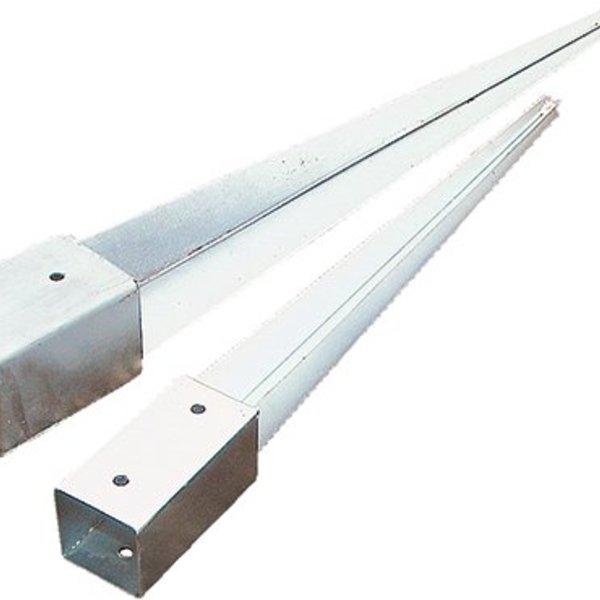 Fixation pour poteau galvanisé 121x121mm longeu