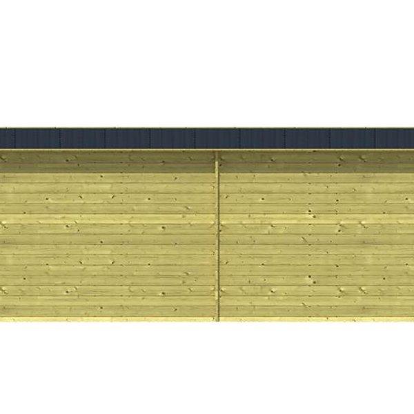 Abri de jardin en madriers  impregné 28mm FREDDY 5,98x2,5m