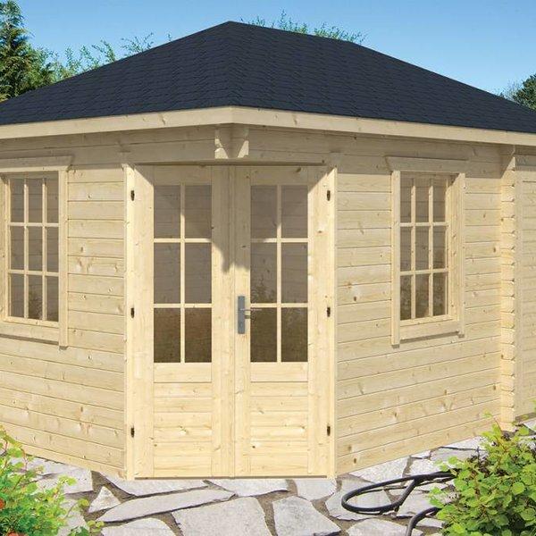 Abri de jardin  en madriers  28mm SIGRID 4,4x3m