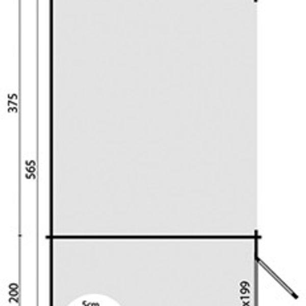 Abri de jardin en madriers  28mm MEGAMODERN 575x300cm