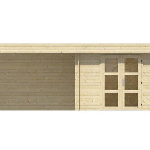 Abri de jardin en madriers  28mm MAJA 6,4x2,4m