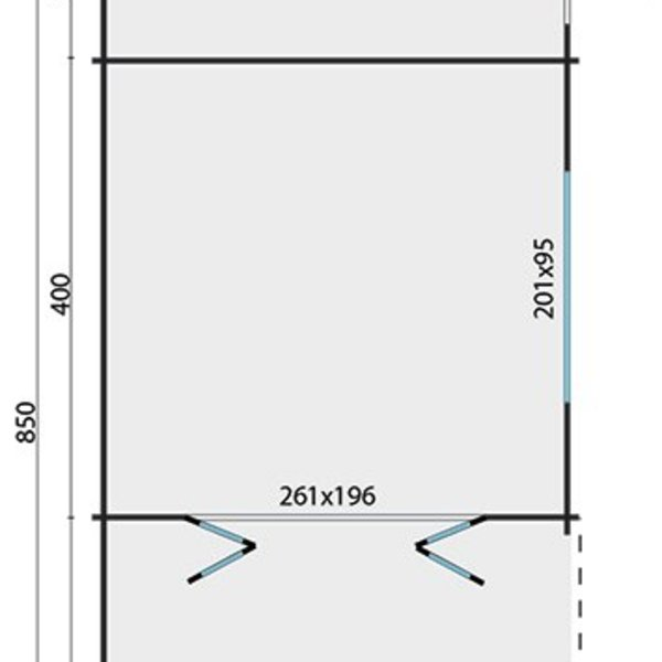 Abri de jardin 45mm SIBELLA 4,2x8,5m