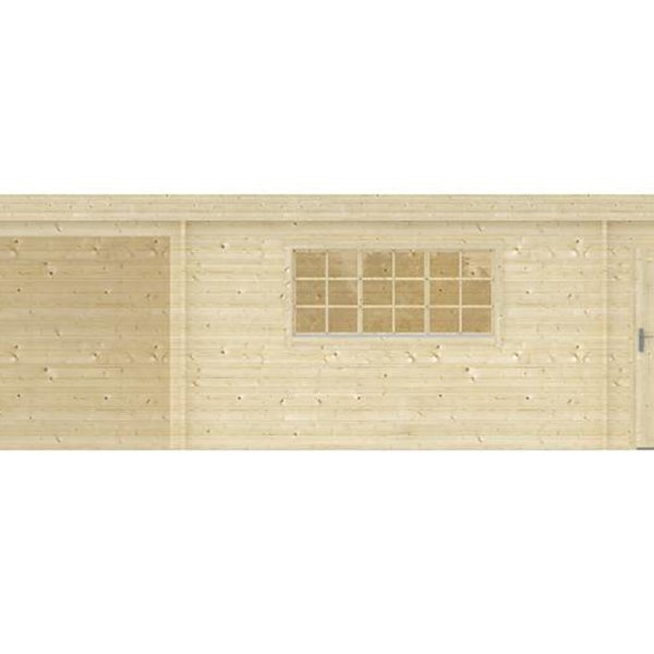 Abri de jardin en madriers  45mm BENNY 8,5x4,2m