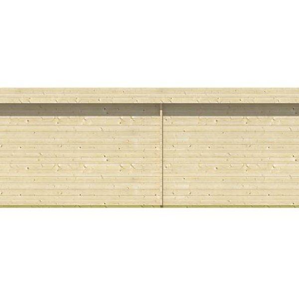 Chalet en madriers  40mm  LILOU 8,2x4,9m