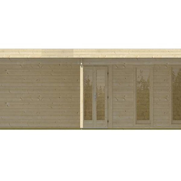 Abri de jardin en madriers  45mm JUTKA 6,78x6,78m