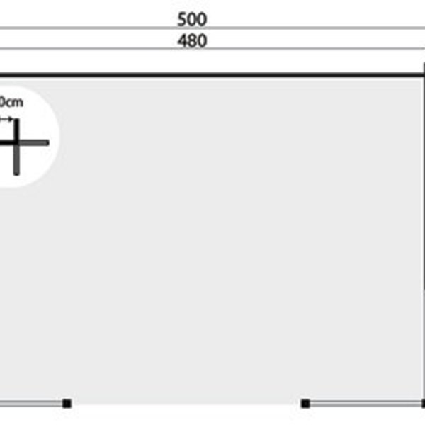 Abri de jardin en madriers 40 mm KONSTANTIN 5x3,5m