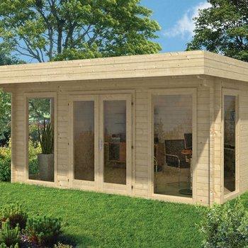 Abri de jardin en madriers  45mm YORICK 5x3,8m