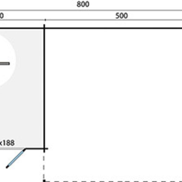 Abri de jardin en madriers  40mm ELEONORA 8x5m