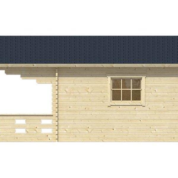 Abri de jardin 45mm HEDVIG 3,8x3,8m