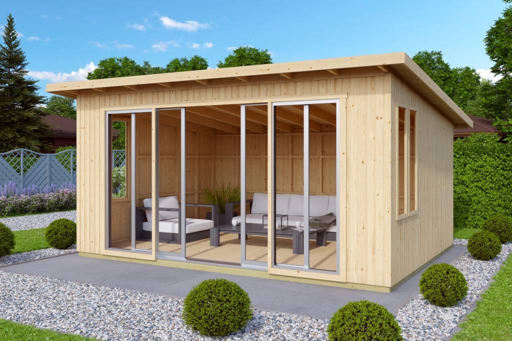 hutkube chalet de loisir johanna alu435x337cm constructions en bois. Black Bedroom Furniture Sets. Home Design Ideas