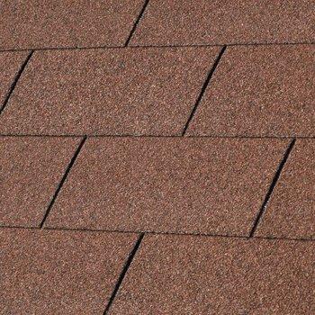Bardeaux toiture 'shingles' droits par 3m2 rouge