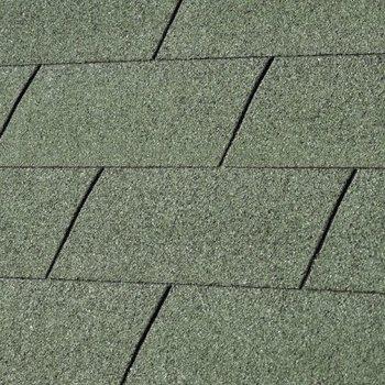 Bardeaux toiture 'shingles' droits par 3m2 vert