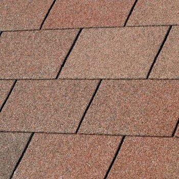 Bardeaux toiture 'shingles' droits par 3m2 duotone rouge terra