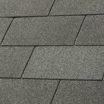 Bardeaux toiture 'shingles' droits par 3m2 duotone gris ardoise