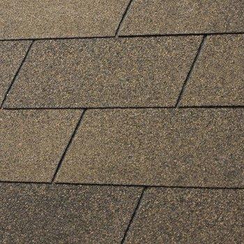 Bardeaux toiture 'shingles' droits par 3m2 duotone brun automne