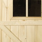 Abri de jardin en madrier 19mm LUZERN 265x205 cm