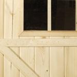 Abri de jardin en madrier 19mm LUZERN 205x205 cm
