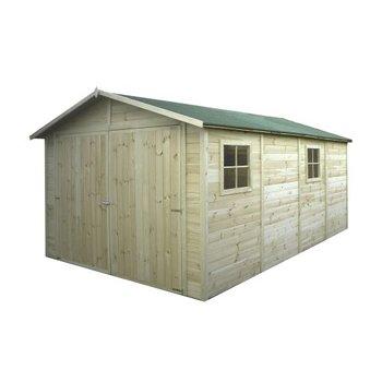 Garage geimpregneerd in panelen 15mm 300x480 cm