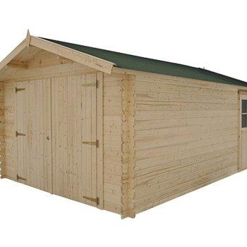 Garage en madrier 34 mm 385x505cm