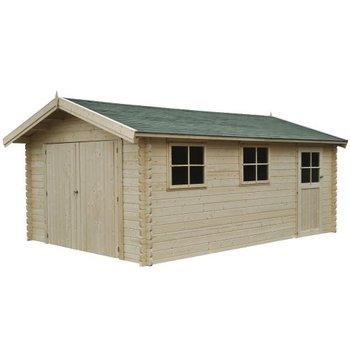 Garage en madrier44mm 385x565 cm